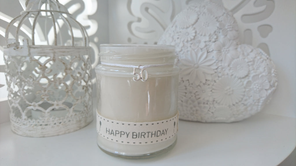 50th Happy Birthday Scented Candle