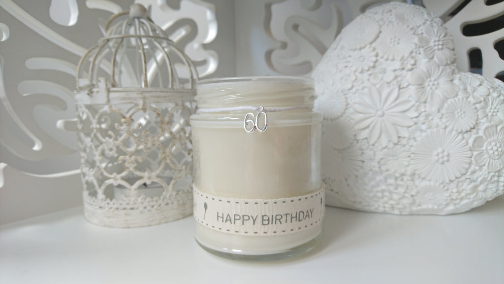 60th Happy Birthday Scented Candle
