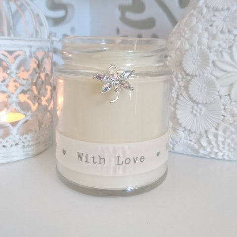 Dragonfly (with love) Scented Jar Candle