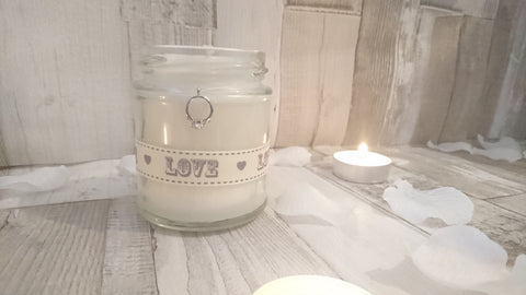 Wedding/Engagement (love & ring) Scented Candle