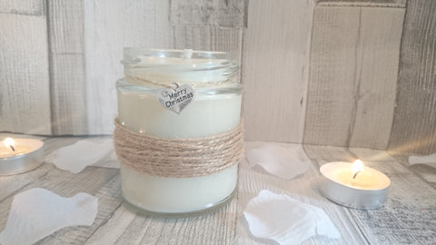 Rustic Merry Christmas Scented Candle
