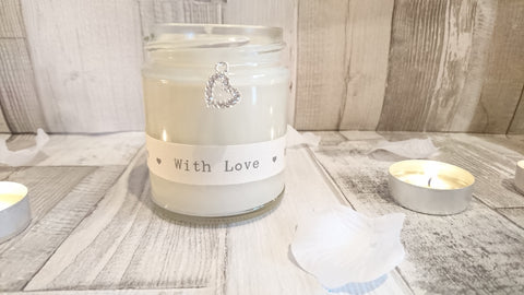 Sparkle Heart (with love) Scented Jar Candle