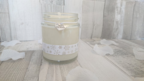 Merry Christmas (snowflake ribbon) Scented Candle