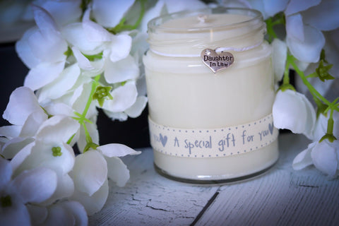 Daughter in Law 'grey a special gift for you' Scented Candle