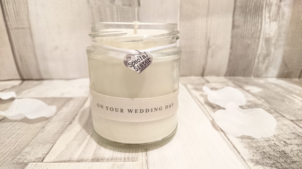 Special Sister (on your wedding day) Scented Candle
