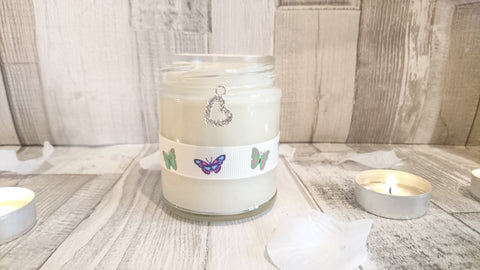 Sparkle Heart (butterfly) Scented Candle