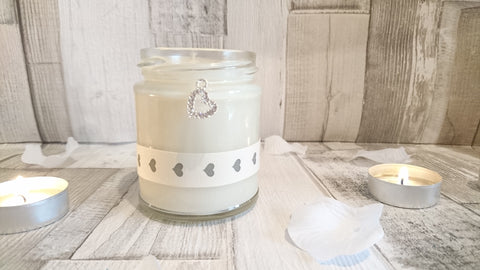 Sparkle Heart (heart) Scented Jar Candle