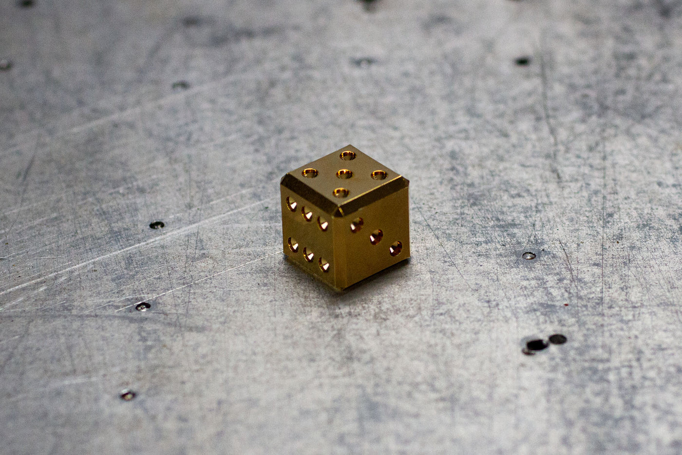 D6 Dice - 14K Gold Scratch & Dent Adoption Sets - GRAVITY DICE