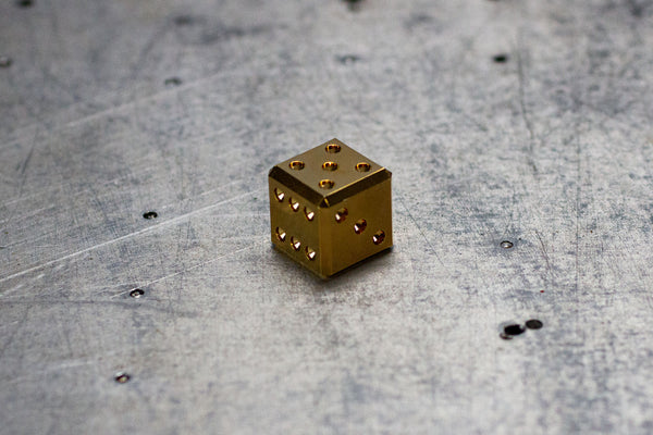 D6 Dice - 14K Gold Scratch & Dent Adoption's - GRAVITY DICE