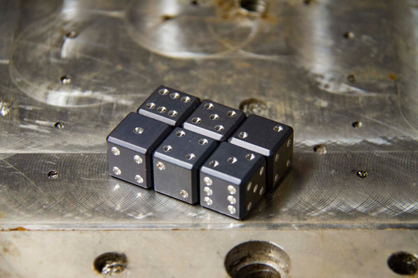 Gun Metal Gray D6 - GRAVITY DICE