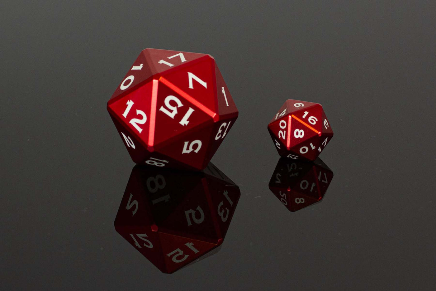 Table Breaker Series 40mm D20 - Rhevior the Red - GRAVITY DICE