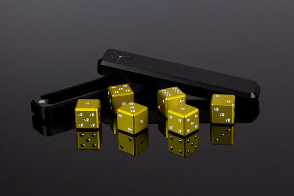 D6 Dice - Gold - Select Your Dice & Case - GRAVITY DICE