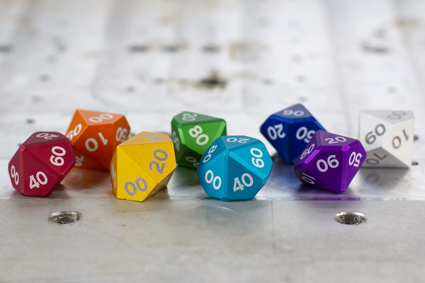 D10% - Individual Polyhedral Dice for RPGs - GRAVITY DICE