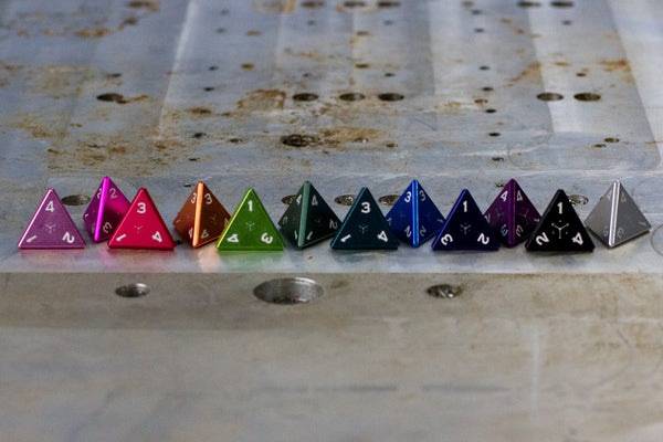 D4 - Individual Polyhedral Dice for RPGs - GRAVITY DICE