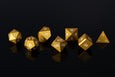 Version 1 Metal Polyhedral RPG Dice Set - Gold - Limited Release - GRAVITY DICE