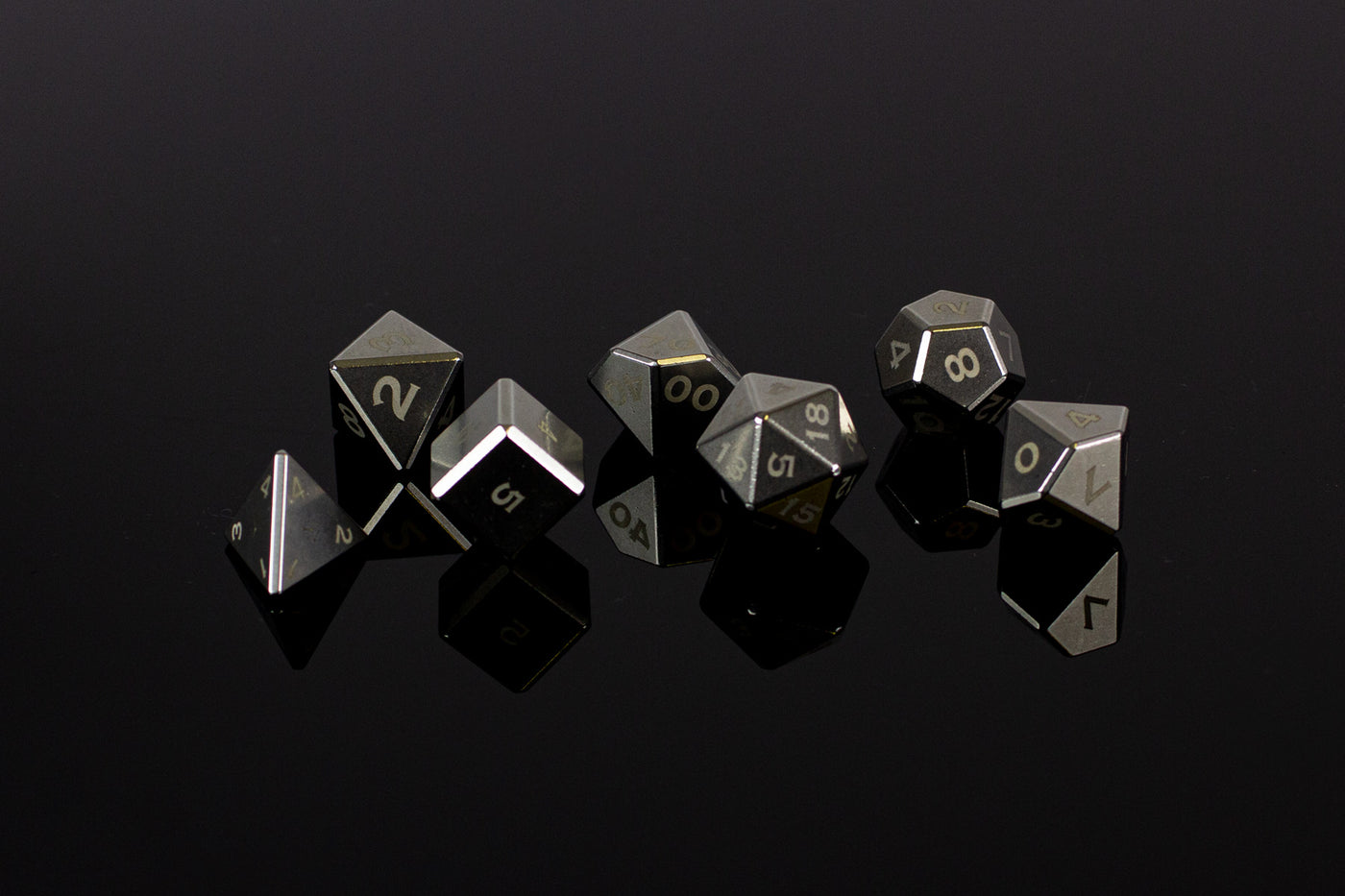 Stainless Steel Polyhedral Set - GRAVITY DICE
