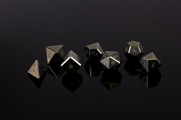 Titanium Polyhedral Dice Set - GRAVITY DICE