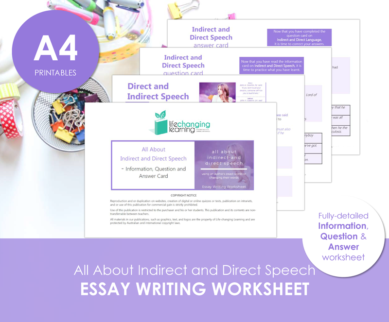 Essays for early writers
