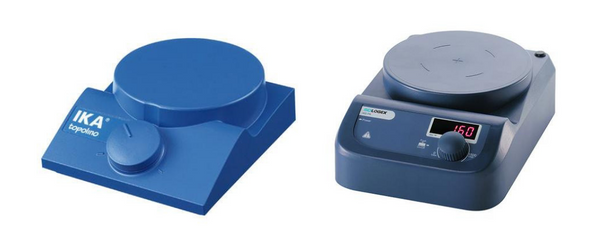 Examples of magnetic stirrers.