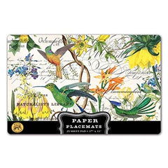 25 Hummingbird Luxury Paper Placemats, Michel Design Works, Disposable Paper ...