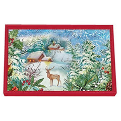 Special Christmas Joy Collections Decoupage Wooden Vanity Tray from FND Promotion by Michel Design Works