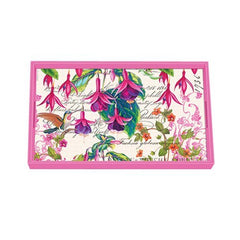 Fuchsia Decoupage Wooden Vanity Tray from FND Promotion by Michel Design Works