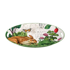 Garden Bunny Medium Metal Tray from FND Promotion by Michel Design Works
