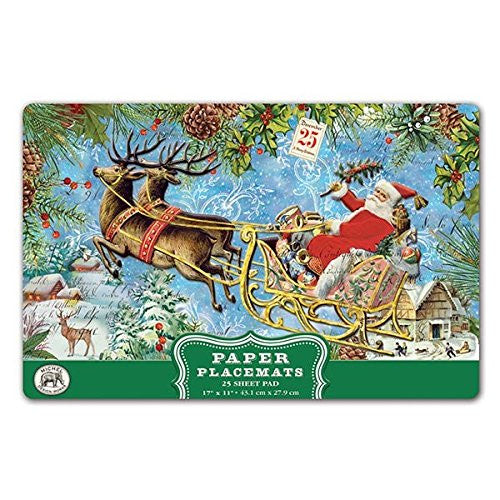 25 Special Christmas Joy Collection Luxury Paper Placemats, Michel Design Wor...