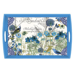 Blue Large Decoupage Wooden Tray from FND Promotion by Michel Design Works