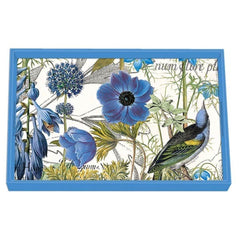 Blue Decoupage Wooden Vanity Tray from FND Promotion by Michel Design Works