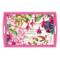 Fuchsia Large Decoupage Wooden Tray from FND Promotion by Michel Design Works