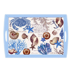 Seashore Large Decoupage Wooden Tray from FND Promotion by Michel Design Works