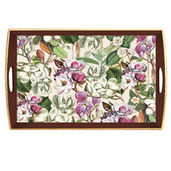 Magnolia Large Decoupage Wooden Tray from FND Promotion by Michel Design Works