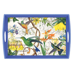 Hummingbird Large Decoupage Wooden Tray