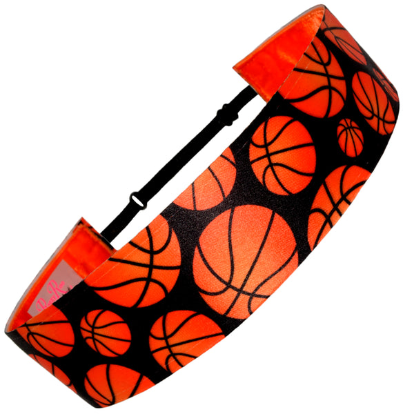 "Basketball ""Hoop It Up"" 1-1/2"" Wide (Color Options)"