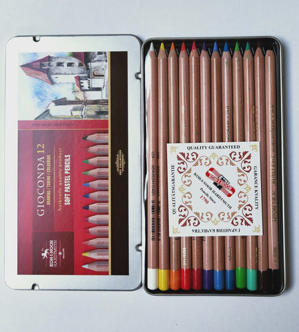 Koh i noor soft pastel pencils set of 12.