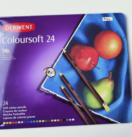 Derwent Coloursoft Colour Pencils 24's