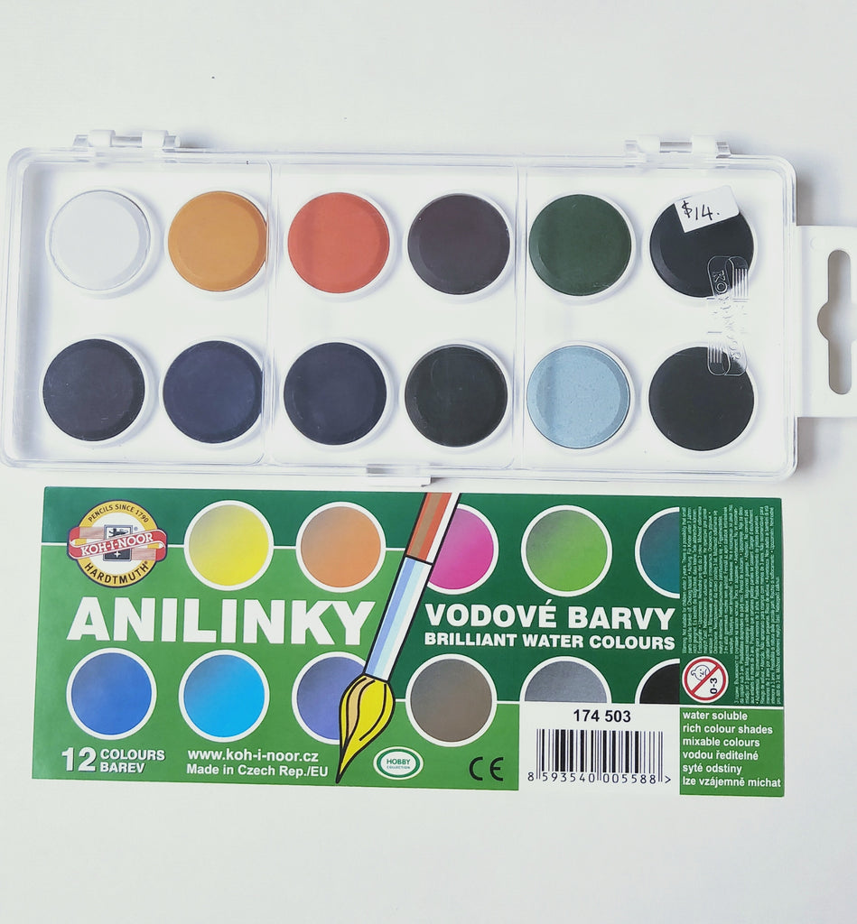 Analinky Watercolour box of 12