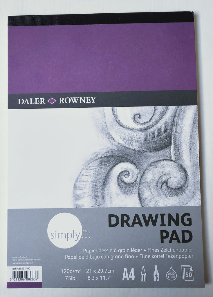 Daler Rowney Drawing Pad . 120 gsm. A4