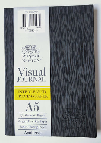 A5 size Visual Journal with interweaved tracing paper