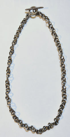 Hand Fabricated Sterling Silver Necklace