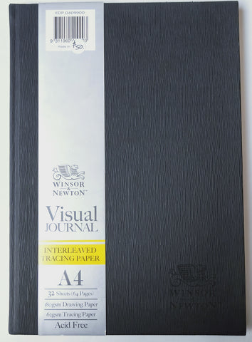 A4 Visual Journal with interweaved tracing paper