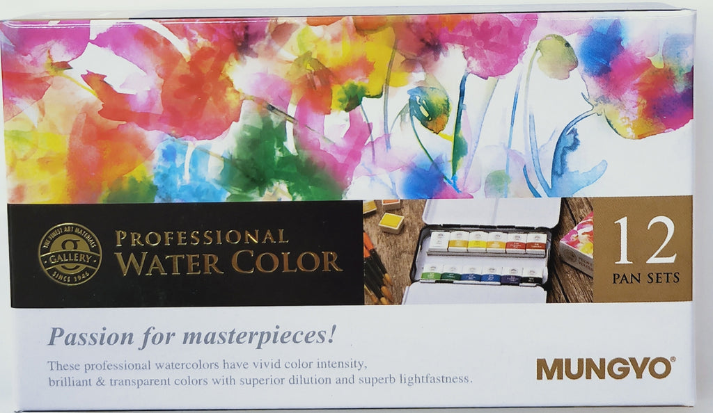 Mungyo Professional Watercolour Set of 12