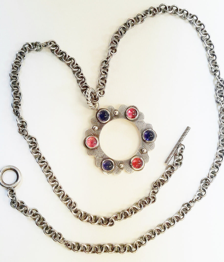 Circle of Gems - pendant necklace by Richard Hassall