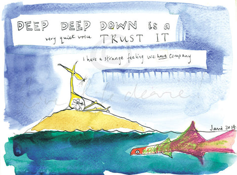 Deep Deep Down - print by Janie Nott