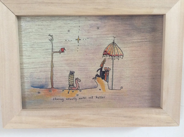 Framed Small Wooden prints