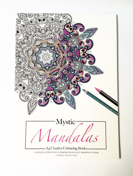 Mystic mandalas- Large Colouring booklet