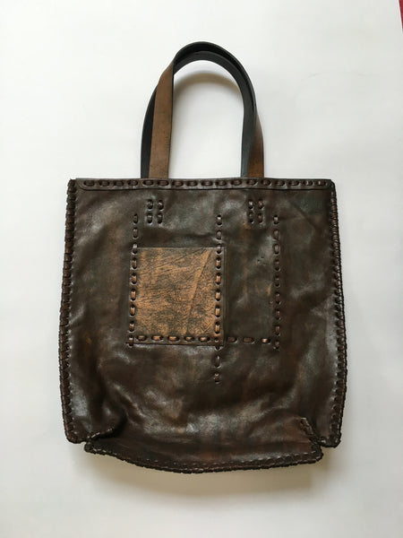 Leather handcrafted handbag
