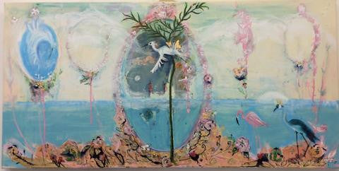 """This is it sunshine"", a painting by Janie Nott"