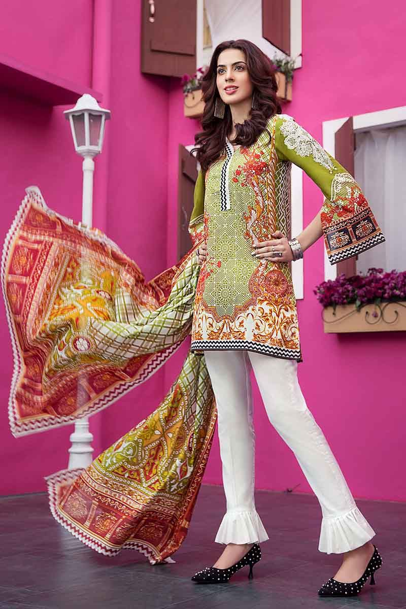 GUL AHMED LAWN STITCHED 3 PIECE 2019 CL#374B